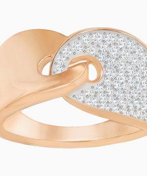 Swarovski Guardian Ring, White, Rose-gold tone plated