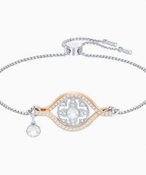 Swarovski Humanist Sun Bracelet, White, Mixed plating