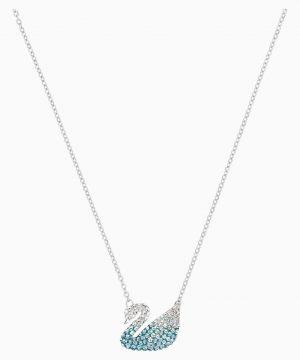 Swarovski Iconic Swan Pendant, Multi-colored, Rhodium plated