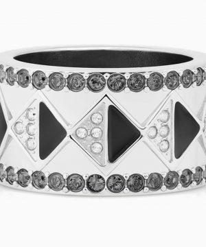 Swarovski Karl Lagerfeld Geometric Ring, Gray, Palladium plated