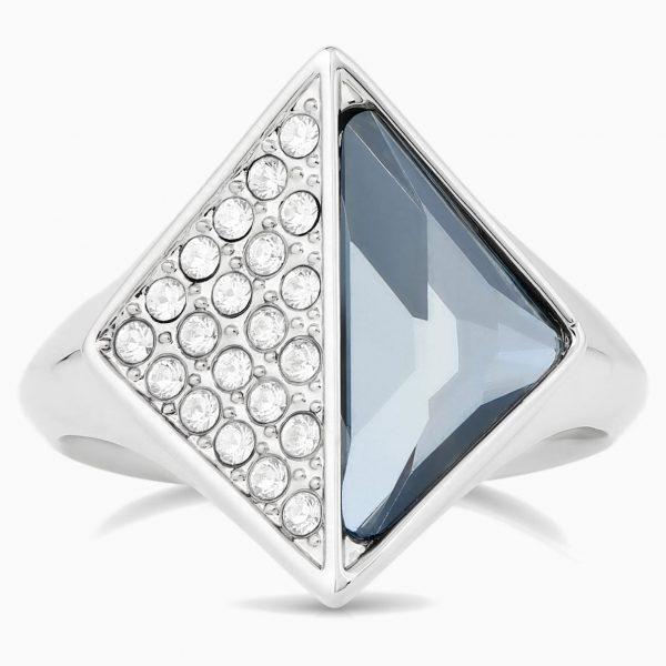 Swarovski Karl Lagerfeld Signet Ring, Blue, Palladium plated