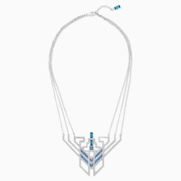 Swarovski Karl Lagerfeld Statement Necklace, Blue, Palladium plated