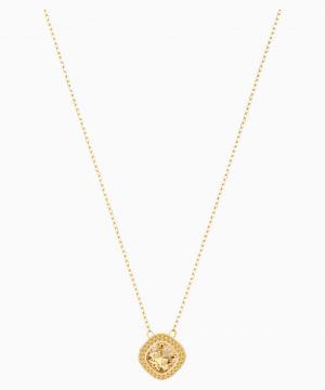 Swarovski Lattitude Pendant, Golden, Gold-tone plated