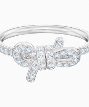 Swarovski Lifelong Ring, Small, White, Rhodium plated