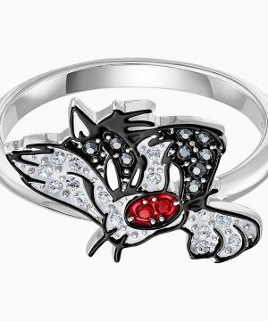 Swarovski Looney Tunes Sylvester Motif Ring, Multi-colored, Rhodium plated