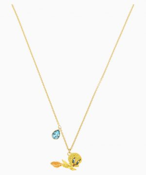 Swarovski Looney Tunes Tweety Pendant, Multi-colored, Gold-tone plated