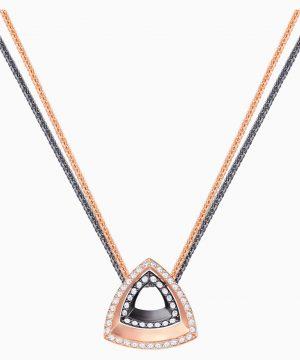 Swarovski Lovesome Triangle Pendant, White, Mixed plating