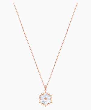Swarovski Magic Pendant, White, Rose-gold tone plated
