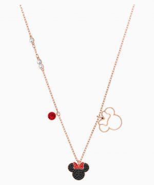 Swarovski Mickey & Minnie Pendant, Multi-colored, Rose-gold tone plated