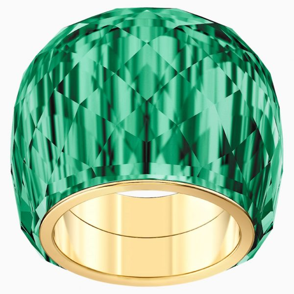 Swarovski Nirvana Ring, Green, Gold-tone PVD
