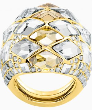 Swarovski Notorious Cocktail Ring, Multi-colored, Gold-tone plated