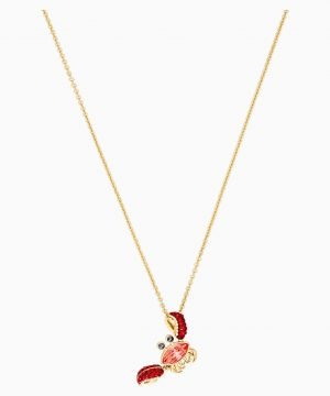 Swarovski Ocean Crab Pendant, Multi-colored, Gold-tone plated