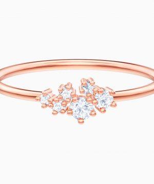 Swarovski Penélope Cruz Moonsun Ring, White, Rose-gold tone plated