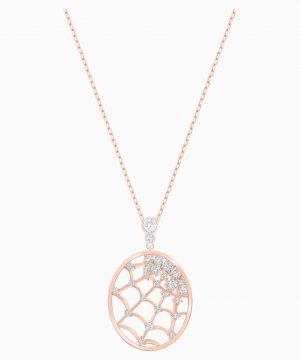 Swarovski Precisely Pendant, White, Rose-gold tone plated