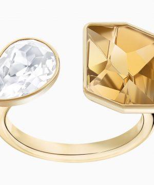 Swarovski Prisma Motif Ring, Multi-colored, Gold-tone plated