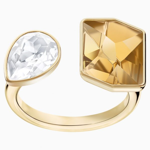 Swarovski Prisma Motif Ring, Multi-colored, Gold-tone plated
