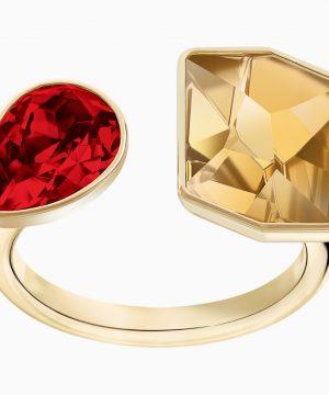 Swarovski Prisma Ring, Multi-colored, Gold-tone plated
