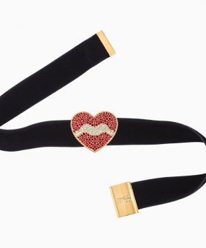 Swarovski Surreal Dream Choker, Heart, Black, Gold-tone plated