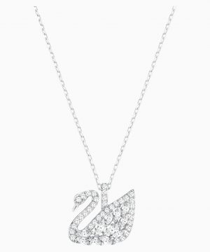 Swarovski Swan Lake Pendant, White, Rhodium plated