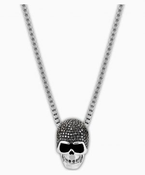 Swarovski Taddeo Skull Pendant, Black, Mixed metal finish