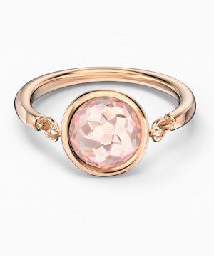 Swarovski Tahlia Ring, Pink, Rose-gold tone plated