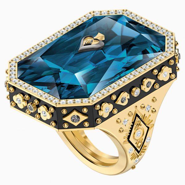 Swarovski Tarot Magic Cocktail Ring, Blue, Gold-tone plated