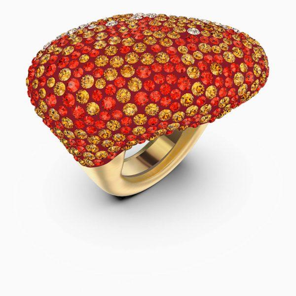 Swarovski The Elements Ring, Orange, Gold-tone plated