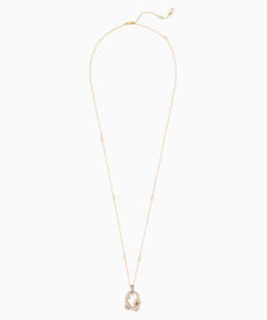 Swarovski Tigris Pendant, Gold tone, Gold-tone plated