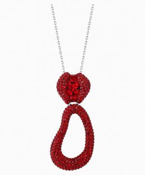 Swarovski Tigris Pendant, Red, Palladium plated