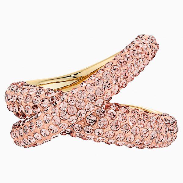 Swarovski Tigris Ring, Pink, Gold-tone plated