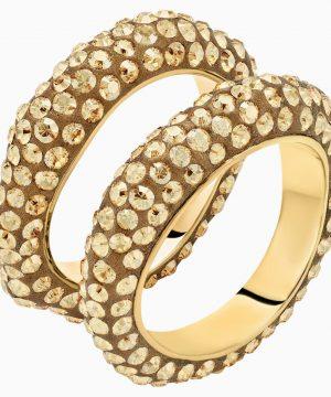 Swarovski Tigris Ring Set, Gold tone, Gold-tone plated