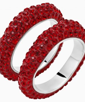 Swarovski Tigris Stacking Ring, Red, Palladium plated