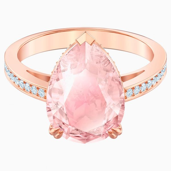 Swarovski Vintage Cocktail Ring, Pink, Rose-gold tone plated