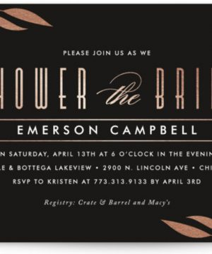 Sway Foil-Pressed Bridal Shower Invitations