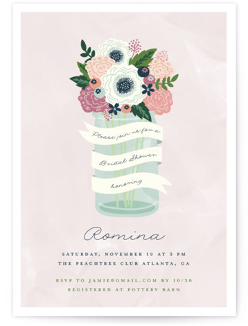 Sweet Bouquet Bridal Shower Invitations