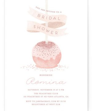 Sweet Cake Pop Bridal Shower Invitations