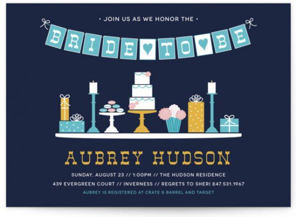 Sweet Treats Bridal Shower Invitations