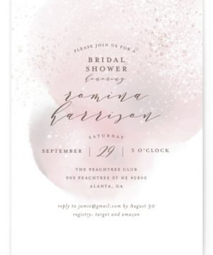 Sweet Watercolor Bridal Shower Invitations