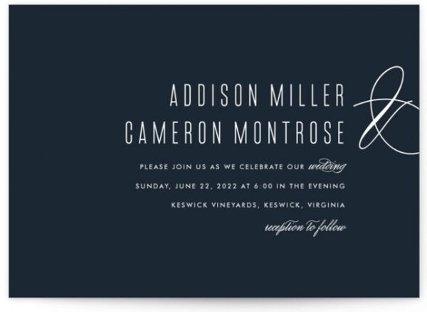 Swoop Wedding Invitations
