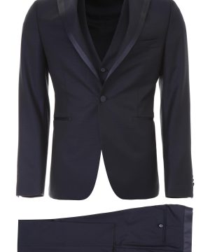 TAGLIATORE THREE-PIECE TUXEDO 48 Blue Wool