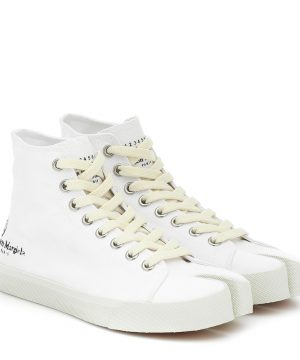 Tabi canvas high-top sneakers