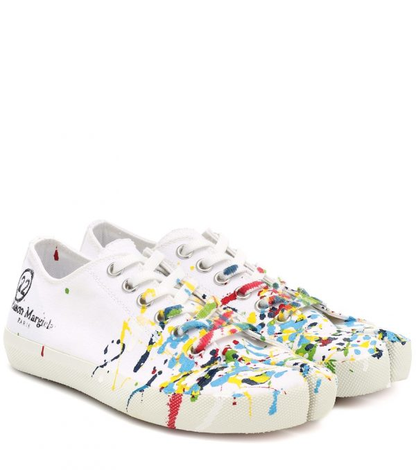 Tabi canvas low-top sneakers