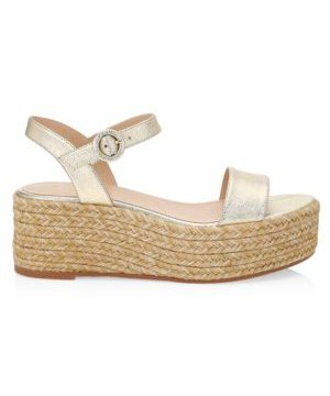 Taborah Leather Platform Espadrilles