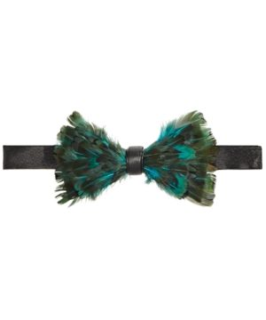 Tallia Men's Feather Pre-Tied Bow Tie