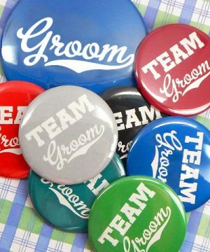 Team Groom Buttons (Set of 12)