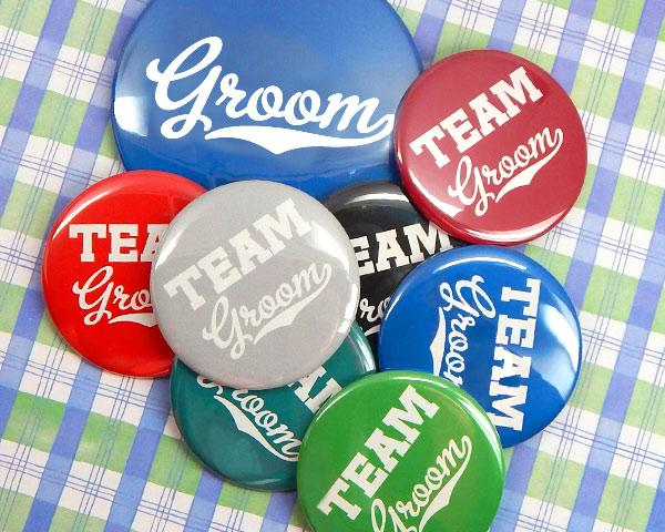 Team Groom Buttons (Set of 12)