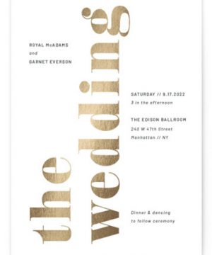 The Wedding Foil-Pressed Wedding Invitations