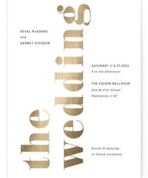 The Wedding Foil-Pressed Wedding Invitations