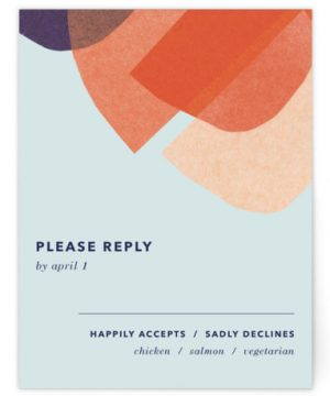 Tissue Texture RSVP Cards