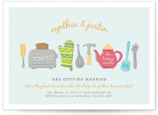 Toast The Happy Couple Bridal Shower Invitations